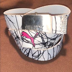 PUMA graffiti adjustable belt w/pink panther EUC